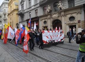 Gegužės 1-oji Čekijos mieste Brno